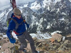 Mike Schilling walks the ridge to Peak O's Summit